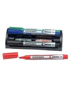 Penne til whiteboard og andre lignende skrive-tavler - sæt med 4 farver m.m.