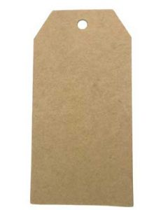 Brune manillamærker med hul i toppen - Kan bruges til mange formål