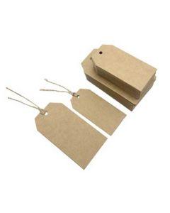Online salg af manillamærker brun - Pakket med 100 stk. til billig pris