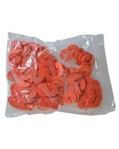 Orange infomærker pakket med 100 stk.