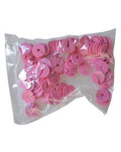 Pink infoskiver til bøjlekrog i 3 mm - Pakket med 100 stk. i pose