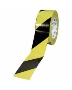 Bånd med tape i sort og gul - Perfekt til opmærkning