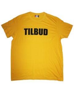 Flot t-shirt i god kvalitet med TILBUD på brystet - Kan bruges i enhver handel