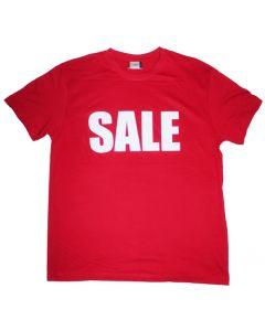 Brug SALE t-shirt til mannequiner til personale - Skaber forkus på dit SALE