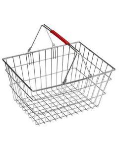 Indkøbskurv af zink-metal med bærehåndtag - 20 liter