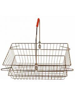 Flot indkøbskurv af metal krom - På 16 liter der kan bruges til mange formål