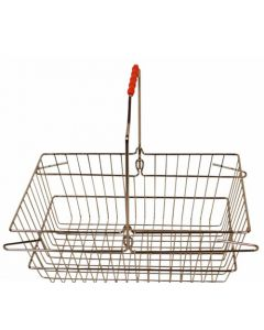 Indkøbskurve på 22 liter til billig pris - Af metal krom med håndtag