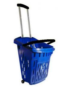 Blå indkøbskurv i flot design af god kvalitet til billig pris - Online salg