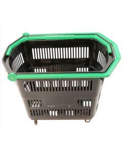 Smart indkøbskurv med plads til mange produkter - 55 liter med håndtag og hjul
