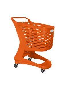 Orange kundevogn / indkøbsvogn til billig pris - Køb online