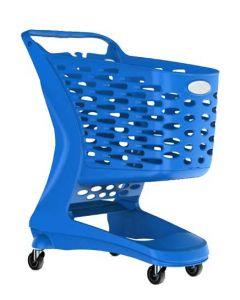 Blå Indkøbsvogn og Kundevogn til butik og handel - God kvalitet og funktionelt design