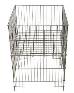 Billig varekurv af zink-trådmetal - Kan bruges indendørs og udendørs