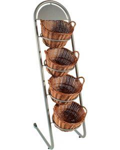 Smart stativ med kurve og hjul i flot design - Perfekt til bager butik