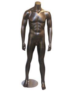 Billig mannequin i god kvalitet - I flot mat sort med krom fodplade