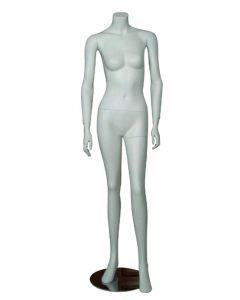 Dame mannequin leveres med flot krom fodplade