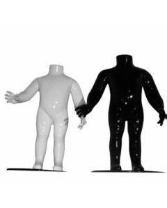 Mannequin barn i flot high gloss - fås i sort eller hvid