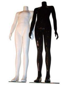 Junior mannequin i højglans - vælg mellem sort eller hvid