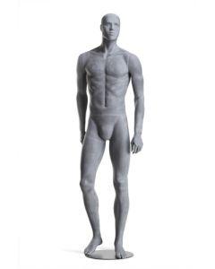 Raw herre mannequin - Flot rå design med mørk metal base