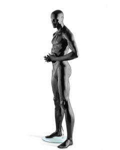 Herre mannequin i sort med high gloss finish - Højkvalitet