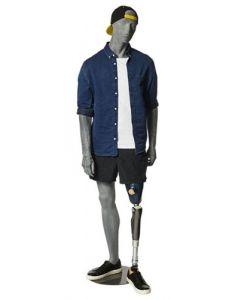 Herre mannequin-dukke til fremvisning af ortopædiske artikler