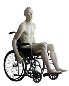 Kørestols mannequin dukke i flot og smart design - Perfekt til fremvisning af kørestole og tilbehør