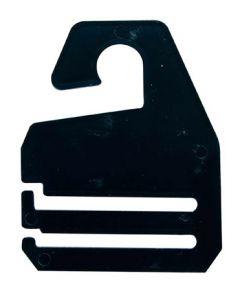 Slipsebøjler i sort med krog til ophæng - Køb slipse-bøjler her