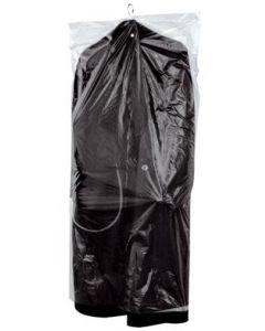 Dragtpose til overtræk af tøj på bøjler - Af klar plast materiale der beskytter tøjet