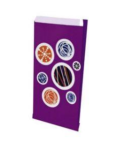 Lilla farvet gaveposer for nem indpakning - Med motiv af cirkler