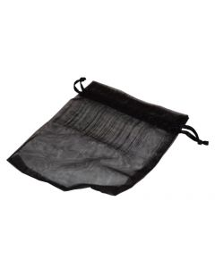 Smykkeposer / organzaposer af sort stof materiale med snørre for lukning