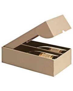 Karton æske med plads til 2 vin flasker - Køb online til gode priser