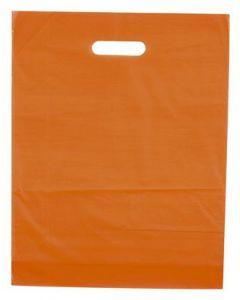 Orange bæreposer i plast materiale - Flot pose til billige pris