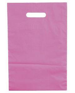 Rosa plast poser med bære håndtag - Pakket med 100 stk. til en god pris