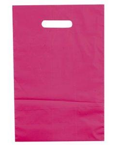 Poser med hank - Her flot bærepose i fuchsia farve, pakket med 100 stk.