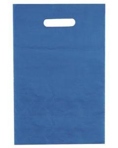 Plastikposer i azurblå farve - God kraftig bærepose til billig pris