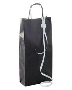 Bærepose til vin og flasker, flot med snoet håndtag