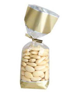 Guld farvet cellofanposer pakket med 100 stk. - Køb online her