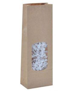 Pose med vindue / rude for en flot indpakning - Pakket med 100 stk. til billig pris