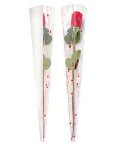 Pose til enkelt blomst med flot print - Pakket med 50 stk. til billig pris
