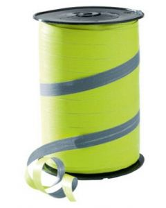 10 mm bredt gavebånd i flot limegrøn / grå farve - Kan bruges i enhver handel