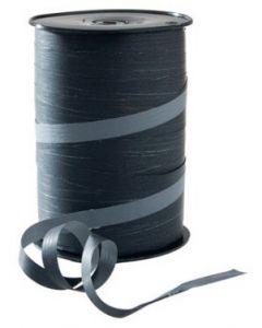 10 mm bredt gavebånd på rulle i sort/grå farve - Kan bruges i enhver handel