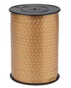 Gavebånd i guld med små prikker som motiv