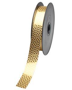 Guld gavebånd med motiv af stjerner