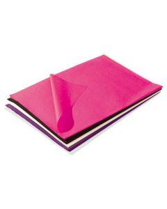 Silkepapir med 5 flotte farver til billig pris - Køb online