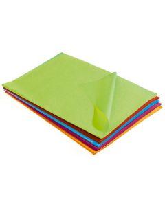 Silkepapir i ark med flotte farver klar til levering