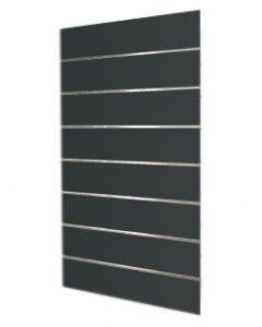 Flot sort MDF vægplade i Slatwall - Kan bruges i enhver handel