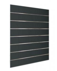 Sort inventar vægplade 120 X 120 i Slatwall - Høj MDF kvalitet