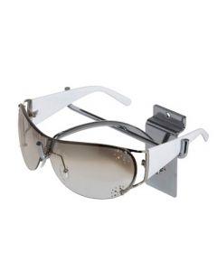 Brilleholder i flot metal krom til ophæng på Rillepanel - I god kvalitet