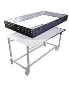 Kant til salgsbord i galvaniseret metal - Perfekt til gaden