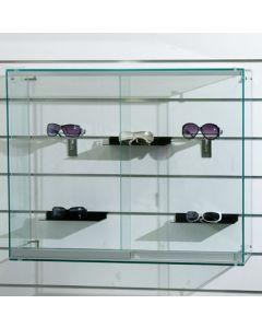 Smart glasvitrine til ophæng på Slatwall / Rillepaenel - I flot design