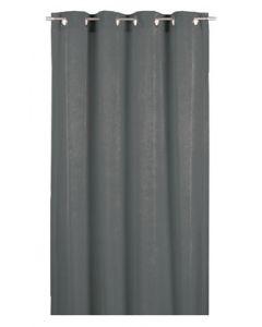 Smart og flot forhæng / gardin til prøverum - I antrasit grå farve